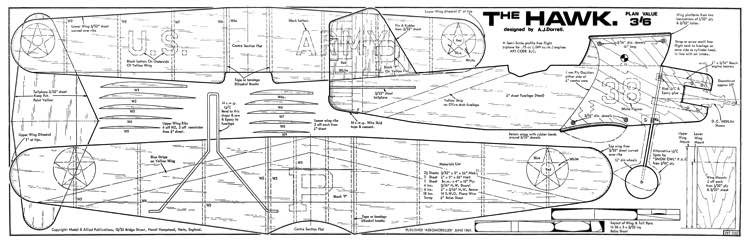 Curtiss Hawk 2 model airplane plan