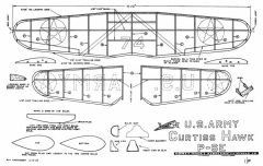 Curtiss Hawk 16in Comet 1935 model airplane plan
