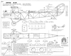 Curtiss JN-4D Jenny 52in Astral model airplane plan