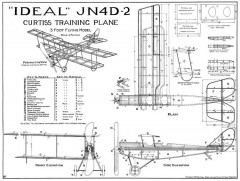 Curtiss JN4D2 original model airplane plan