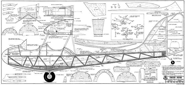 Curtiss Junior RCM-767 clean model airplane plan