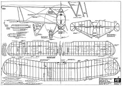 Curtiss O-39 Falcon model airplane plan