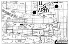 Curtiss P-37 Comet model airplane plan