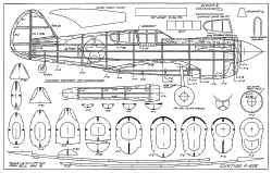 Curtiss P-40E John Bell model airplane plan