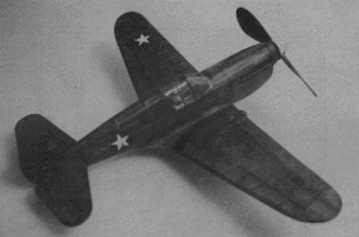 Curtiss P-40E model airplane plan