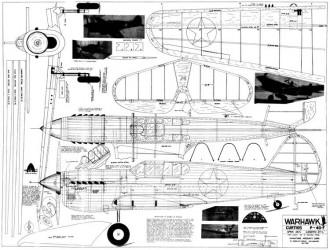 Curtiss P-40F Warhawk model airplane plan