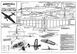 Curtiss P40 profile CL model airplane plan