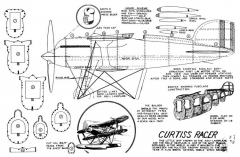 Curtiss Racer model airplane plan
