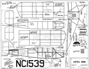 Curtiss Robin 25in model airplane plan