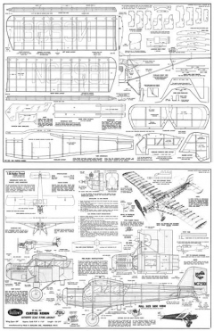 Curtiss Robin 305 model airplane plan
