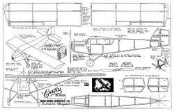 Curtiss Robin Burd 16in model airplane plan