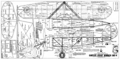 Curtiss SBC-4 model airplane plan