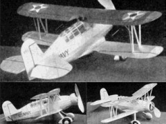 Curtiss SOC-1 Navy Scout model airplane plan