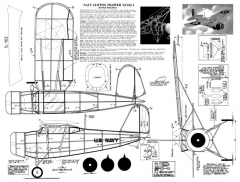 Curtiss XF13C-1 2 model airplane plan