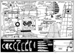 Curtiss XP-40 model airplane plan