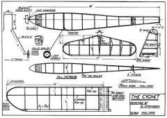 Cygnet model airplane plan