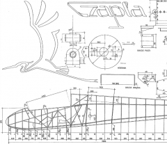 SZD 10 Czapla model airplane plan