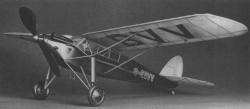 D.H 75 Hawk Moth model airplane plan