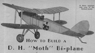 D.H Gypsy Moth model airplane plan