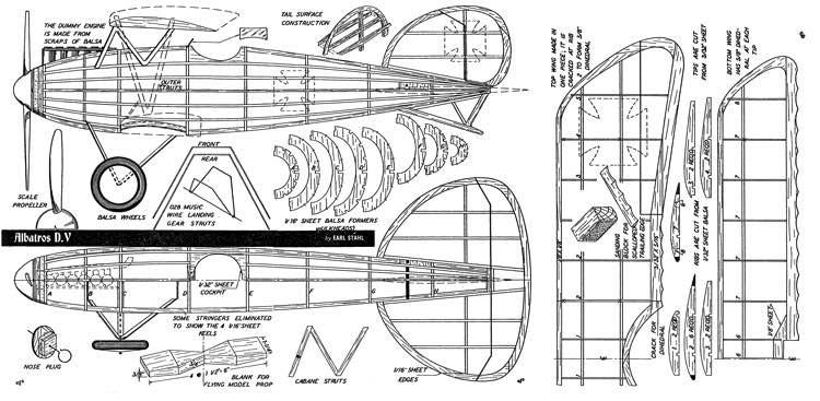 D5a 1 model airplane plan