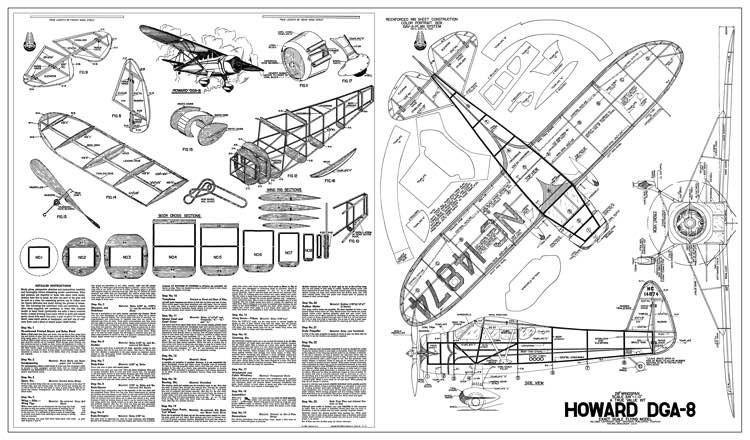 DGA-8 model airplane plan
