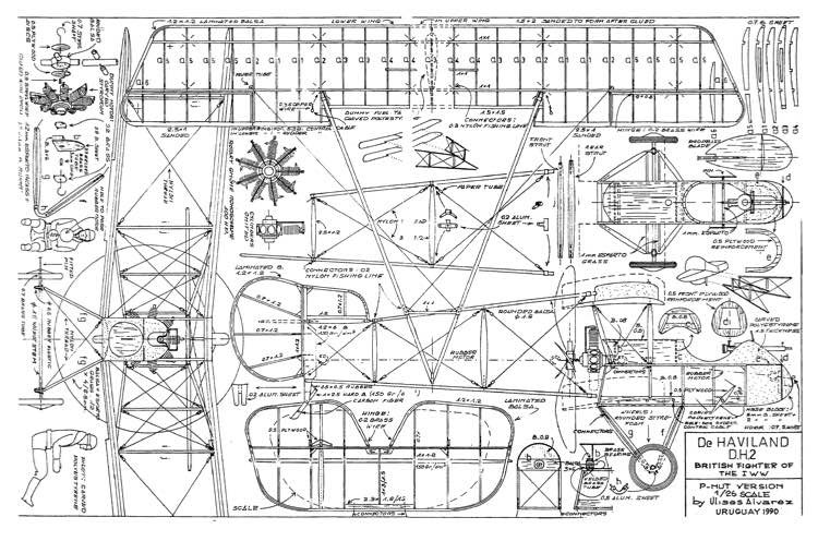 DH-2 done model airplane plan