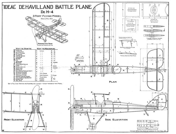 DH-4 by Ideal model airplane plan
