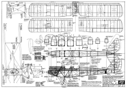 DH-60G Gipsy Moth model airplane plan