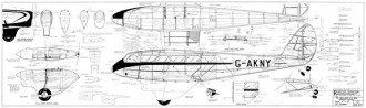 DH-89A Dragon Rapide 96in model airplane plan