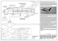 DH108 Swallow A3 model airplane plan