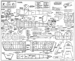 D.H.5. model airplane plan