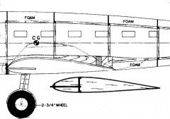 DH9FB58 model airplane plan