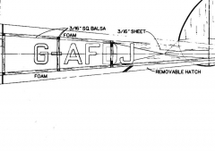 DH9FB8-E model airplane plan