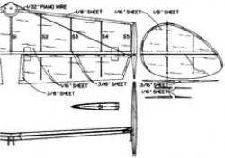 DH9STAB model airplane plan