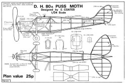 DH 80 Puss Moth model airplane plan
