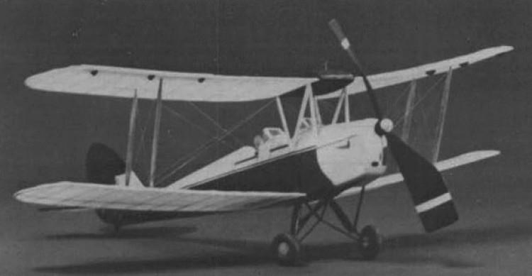 DH 82 Tiger Moth model airplane plan