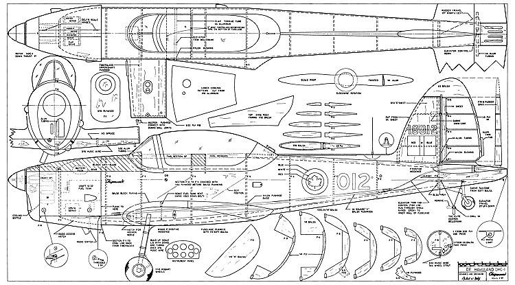 De Havilland DHC-1 Chipmunk model airplane plan