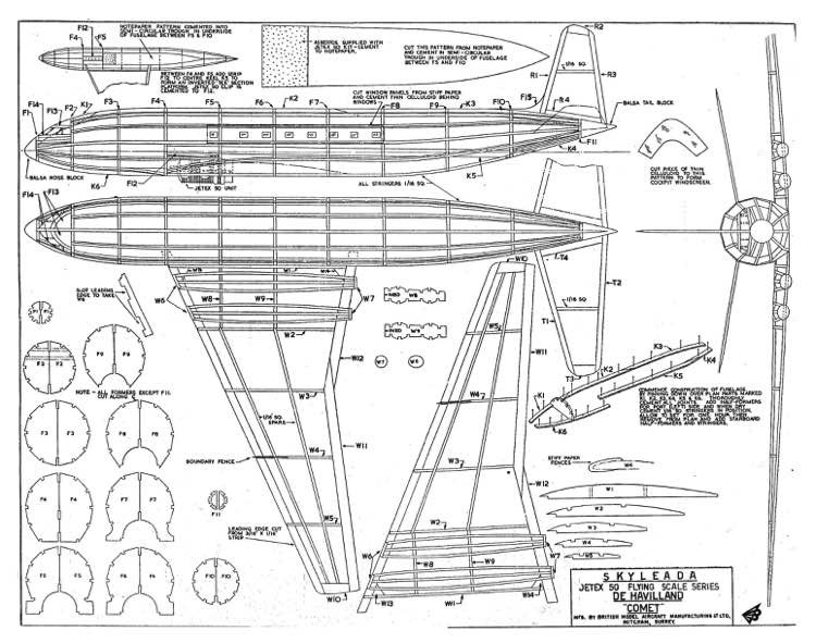 DH Comet model airplane plan