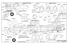 DH Hornet model airplane plan