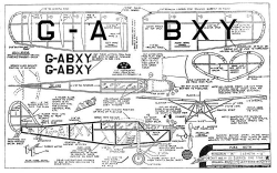 DH Puss Moth model airplane plan