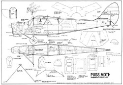 DeHavilland DH80-A Puss Moth model airplane plan