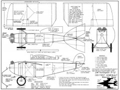 Huntington H-12 model airplane plan