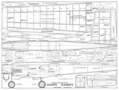 Daddy Rabbit model airplane plan