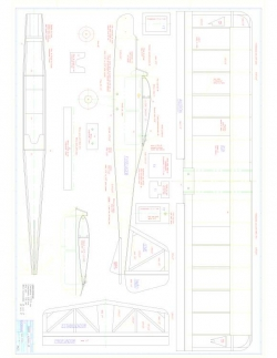 Dagent 25 Model 1 model airplane plan