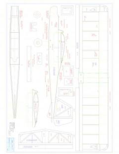 Dagent 25 Model 1 model airplane plan