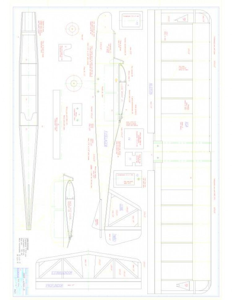 Dagent Model 1 model airplane plan