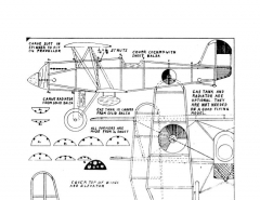 DallaireFokkerDXVII model airplane plan