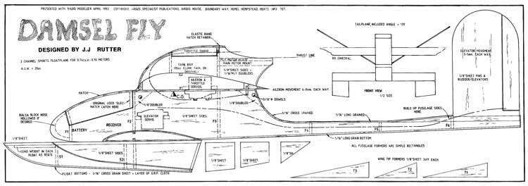 Damsel Fly model airplane plan