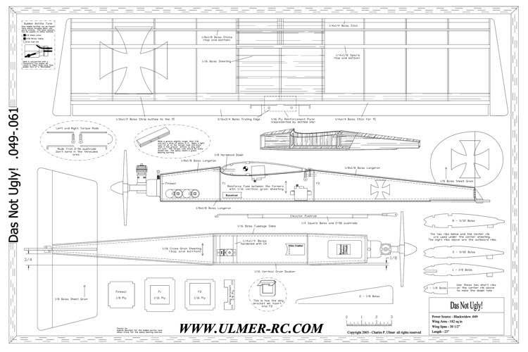DasNotUgly model airplane plan