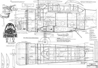Dauntless SBD-5 model airplane plan